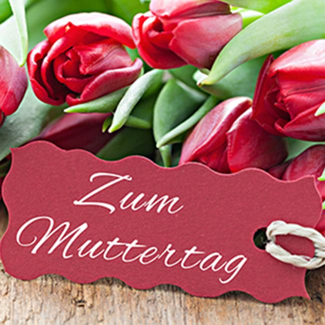 Tulpenstrauß mit Karte - Zum Muttertag